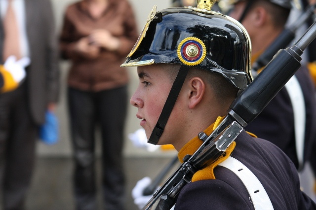 Young colombia soldier
