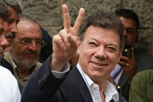Juan Manuel Santos won a second term as Colombia's president in Sunday's election