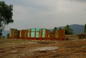 Remains of a building in a Guatemalan community displaced by the Marlin Mine. Anna Vogt