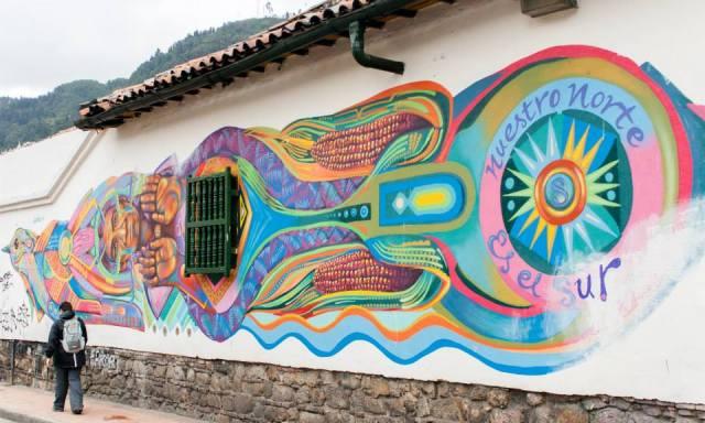 Street art in Bogota, Colombia. Anna Vogt